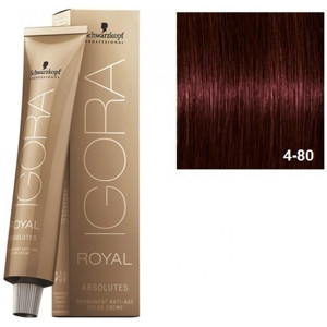 Igora Royal Absolutes 4-80 Schwarzkopf Castaño Medio Rojo Natural 60ml