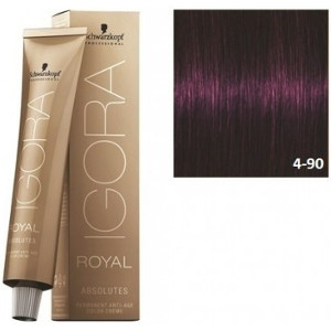 Igora Royal Absolutes 4-90 Schwarzkopf Castaño Medio Violeta Natural 60ml