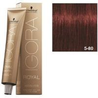 Igora Royal Absolutes 5-80 Schwarzkopf Castaño Claro Rojo Natural 60ml