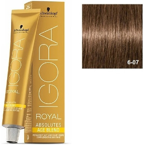 Igora Royal Absolutes 6-07 Age Blend Schwarzkopf Rubio Oscuro Natural Cobrizo 60ml