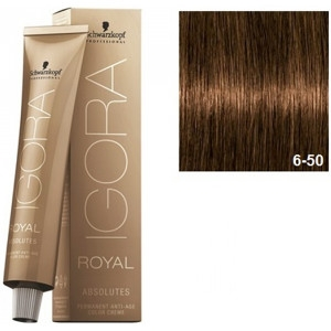 Igora Royal Absolutes 6-50 Schwarzkopf Rubio Oscuro Dorado Natural 60ml