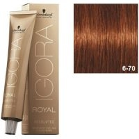 Igora Royal Absolutes 6-70 Schwarzkopf Rubio Oscuro Cobrizo Natural 60ml