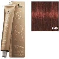 Igora Royal Absolutes 6-80 Schwarzkopf Rubio Oscuro Rojo Natural 60ml