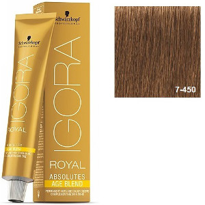 Igora Royal Absolutes 7-450 Age Blend Schwarzkopf Rubio Medio Beige Dorado 60ml