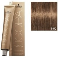 Igora Royal Absolutes 7-50 Schwarzkopf Rubio Medio Dorado Natural 60ml
