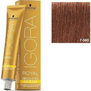 Igora Royal Absolutes 7-560 Age Blend Schwarzkopf Rubio Medio Dorado Chocolate 60ml