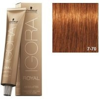 Igora Royal Absolutes 7-70 Schwarzkopf Rubio Medio Cobrizo Natural 60ml