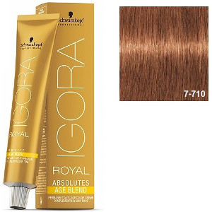 Igora Royal Absolutes 7-710 Age Blend Schwarzkopf Rubio Medio Cobrizo Ceniza 60ml