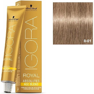 Igora Royal Absolutes 8-01 Age Blend Schwarzkopf Rubio Claro Natural Ceniza 60ml