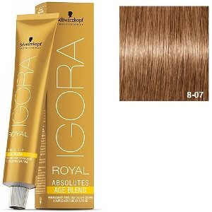 Igora Royal Absolutes 8-07 Age Blend Schwarzkopf Rubio Claro Natural Cobrizo 60ml