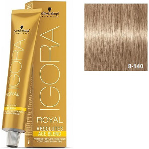 Igora Royal Absolutes 8-140 Age Blend Schwarzkopf Rubio Claro Ceniza Beige 60ml