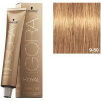 Igora Royal Absolutes 9-50 Schwarzkopf Rubio Muy Claro Dorado Natural 60ml