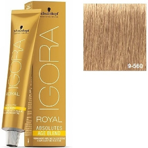 Igora Royal Absolutes 9-560 Age Blend Schwarzkopf Rubio Muy Claro Dorado 60ml