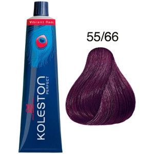 Koleston Perfect 55-66 Wella Tinte Castaño Claro Violeta Intenso Vibrant Reds P5 60ml