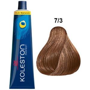 Koleston Perfect 7-3 Wella Tinte Rubio Medio Dorado 60ml