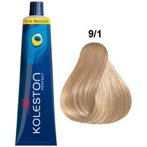 Koleston Perfect 9-1 Wella Tinte Rubio muy Claro Ceniza Rich Naturals 60ml