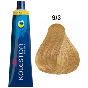 Koleston Perfect 9-3 Wella Tinte Rubio muy Claro Dorado Rich Naturals 60ml