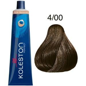 Koleston Perfect 4-00 Wella Tinte Castaño Medio Natural Pure Naturals 60ml
