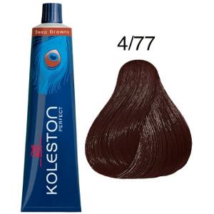 Koleston Perfect 4-77 Tinte Wella Castaño Medio Marrón Intenso Deep Browns 60ml