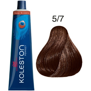 Koleston Perfect 5-7 Tinte Wella Castaño Claro Marrón Deep Browns 60ml