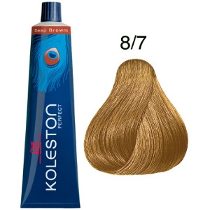 Koleston Perfect 8-7 Tinte Wella Rubio Claro Marrón Deep Browns 60ml