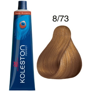 Koleston Perfect 8-73 Tinte Wella Rubio Claro Marrón Dorado Deep Browns 60ml