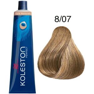 Tinte Koleston Perfect 8-07 Wella Rubio Claro Natural Marrón Pure Naturals 60ml