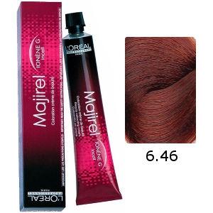 L'Oreal Tinte Majirel 6.46 Rubio Oscuro Cobrizo Rojo 50ml