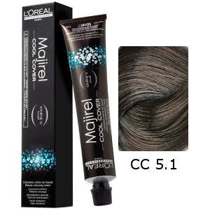 L'Oreal Tinte Majirel Cool Cover 5.1 Castaño Claro Ceniza 50ml