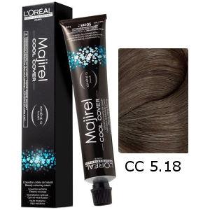 L'Oreal Tinte Majirel Cool Cover 5.18 Castaño Claro Ceniza Moka 50ml