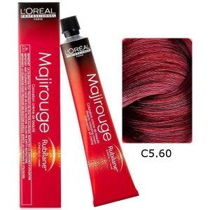 L'Oreal Tinte Majirouge C5.60 Castaño Claro Rojo Profundo 50ml