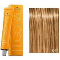 Schwarzkopf Tinte Igora Royal Fashion Lights L-57 Dorado Cobrizo 60ml
