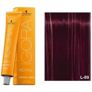 Schwarzkopf Tinte Igora Royal Fashion Lights L-89 Rojo Violeta 60ml