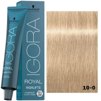 Schwarzkopf Tinte Igora Royal Highlifts 10-0 Rubio Platino Natural 60ml