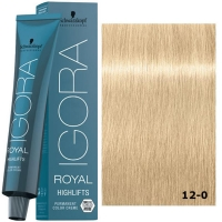 Schwarzkopf Tinte Igora Royal Highlifts 12-0 Superaclarante Natural 60ml