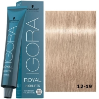Schwarzkopf Tinte Igora Royal Highlifts 12-19 Superaclarante Ceniza Violeta 60ml