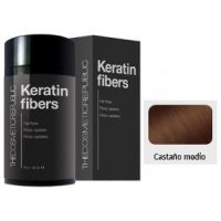 Keratin Fibers Castaño Medio The Cosmetic Republic 12.5 gramos