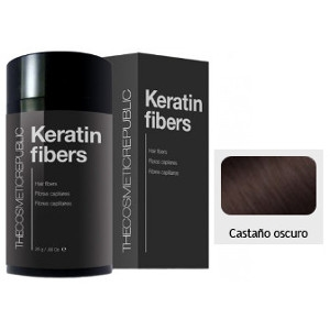 Keratin Fibers Castaño Oscuro The Cosmetic Republic 12.5 gramos