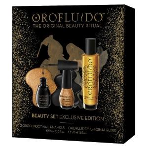 Pack Orofluido Serum Original Elixir 50ml + 2 Nail Enamels 15ml Revlon