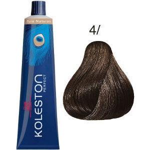 Tinte Koleston Perfect 4/ Wella Castaño Intenso Medio Pure Naturals 60ml