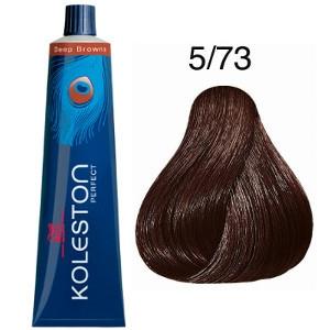 Tinte Koleston Perfect 5-73 Wella Castaño Claro Marrón Dorado Deep Browns 60ml