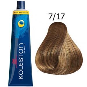 Tinte Koleston Perfect 7-17 Wella Rubio Medio Ceniza Marrón Rich Naturals 60ml