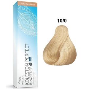 Tinte Koleston Perfect INNOSENSE 10-0 Wella Rubio Intenso Super Claro Pure Naturals 60ml