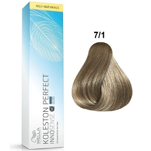 Tinte Koleston Perfect INNOSENSE 7-1 Wella Rubio Medio Ceniza Rich Naturals 60ml