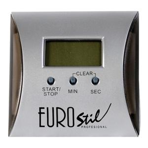 Reloj Digital Peluquería Cuadrado con Soporte e Iman Eurostil
