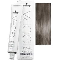 Tinte Igora Royal Absolutes Silverwhite Gris Pizarra Schwarzkopf 60ml