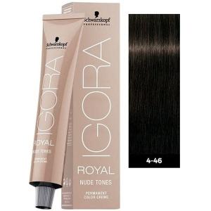 Tinte Igora Royal Nude Tones 4-46 Castaño Medio Beige Chocolate Schwarzkopf 60ml