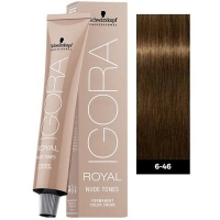 Tinte Igora Royal Nude Tones 6-46 Rubio Oscuro Beige Chocolate Schwarzkopf 60ml