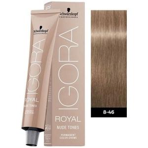 Tinte Igora Royal Nude Tones 8-46 Rubio Claro Beige Chocolate Schwarzkopf 60ml