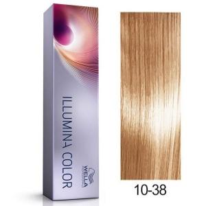 Tinte Illumina Color 10/38 Wella Rubio Super Claro Dorado Perla 60ml